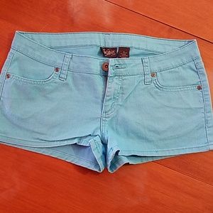 City Streets light blue shorts